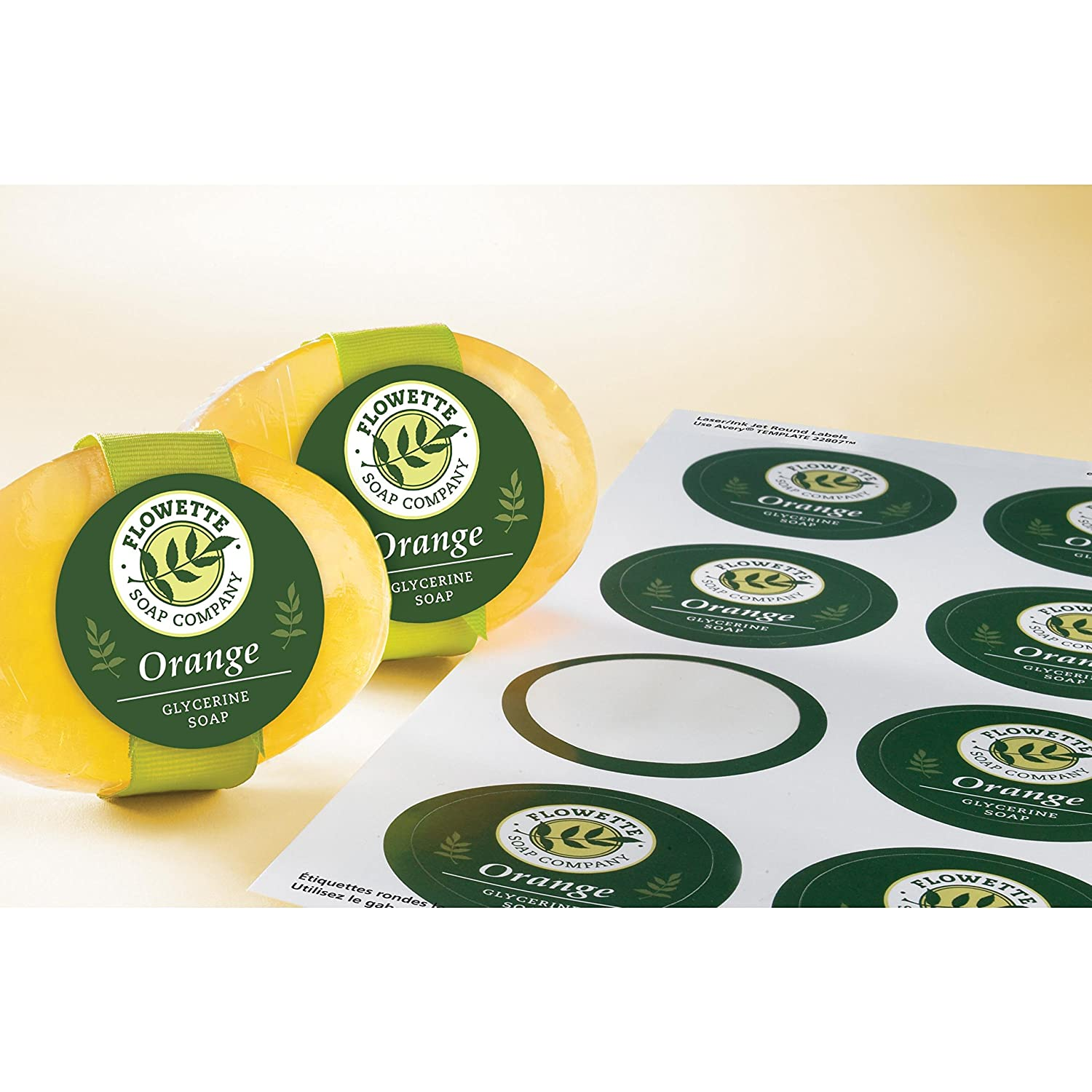 Amazon avery easy peel print to the edge round labels amazon avery easy peel print to the edge round labels glossy white 2 diameter pack of 180 labels 22807 template office products pronofoot35fo Images