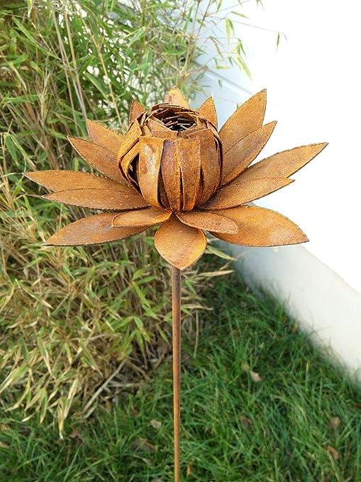 Zen Man - Escultura de Metal Oxidado, para jardín, diseño de Flores: Amazon.es: Jardín