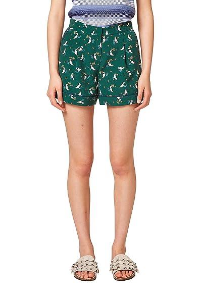EDC by Esprit 058cc1c018, Pantalones Cortos para Mujer, Multicolor (Dark Green 300), W44 (Talla del fabricante: 44)