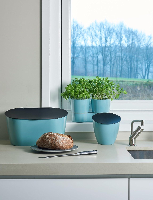 Mini Papelera Banco de Cocina 2.2 l Nordic green Rosti Mepal Calypso color Verde
