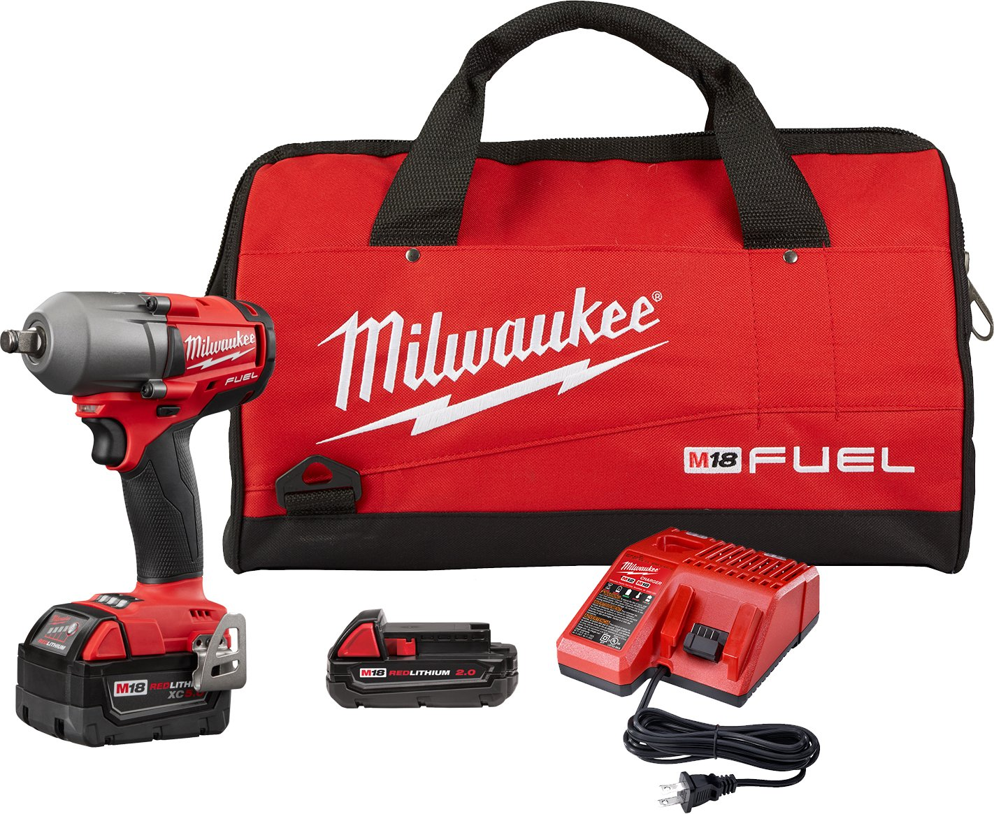Milwaukee Electric Tools 2861-22CX M18 Fuel 1 2 Mid-Torque Impact Wrench Auto Kit