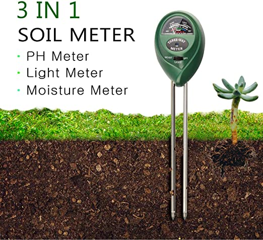 Test de pH suelo suelo Análisis Juego Test Jardín suelo medidor PH Medidor de 3 en