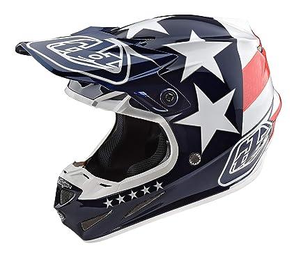 Troy Lee Designs Helmet >> 2017 Troy Lee Designs Se4 Composite Freedom Helmet Blue Xl