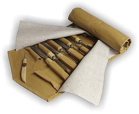 Herramientas, funda enrollable para herramientas para tallar ...