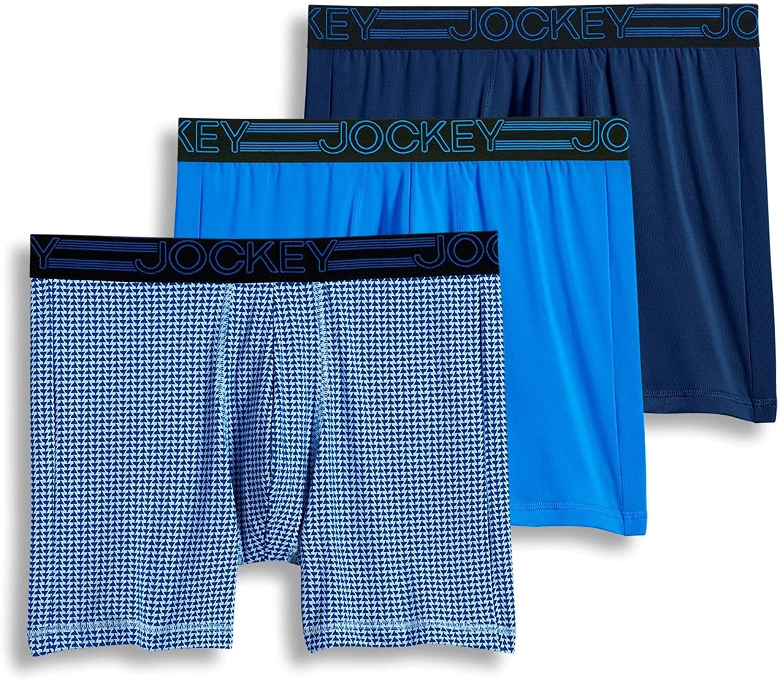 Jockey Men's Underwear Active Microfiber Midway Brief - 3 Pack