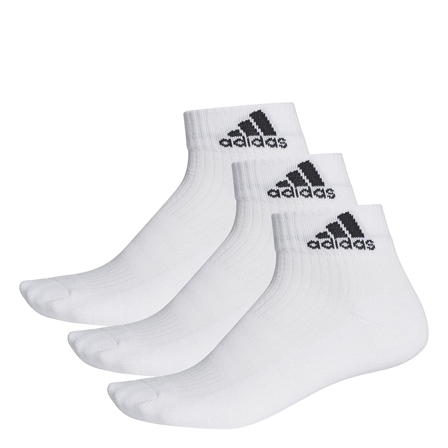 adidas Unisex 3-Stripes Performance Ankle Socks (Pack of 3 Pairs) 888590063120