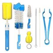 Baby Bottle Brush, 7 in 1 Multifunctional Cleaning Brush Kit for Baby Bottles Set Cups Sports Bottle Nipple Straws