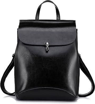 Realer Leather Backpacks Purses Convertible Shoulder Bag