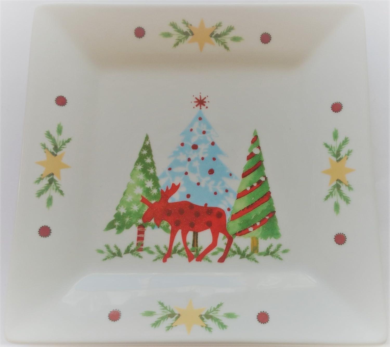 Teller Dessertteller Kuchenteller Porzellan ppd Weihnachten 15x15 cm ...
