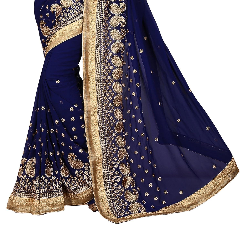 India de Bollywood Sari Oro Frontera de Paisley Diseñador partido étnico vestido Sari: Amazon.es: Ropa y accesorios