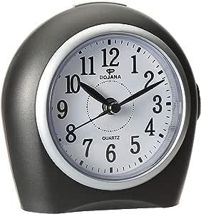 Alarm Clock by DOJANA, Gray-White,DA8133, AA, Plastic