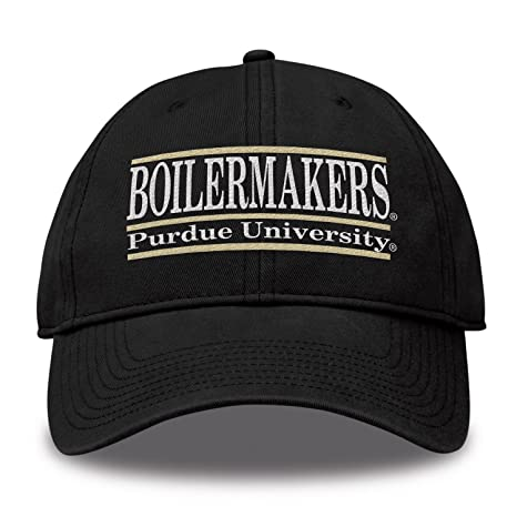 wholesale dealer 19d71 23c92 The Game NCAA Purdue Boilermakers Bar Design Twill Hat, Black, Adjustable