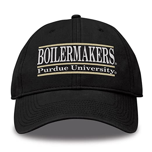 8c1c089c1a1 Amazon.com   The Game NCAA Purdue Boilermakers Bar Design Twill Hat ...