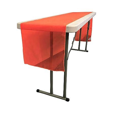 LinenTablecloth 14 x 108 Organza Camino de Mesa Rojo: Amazon.es: Hogar