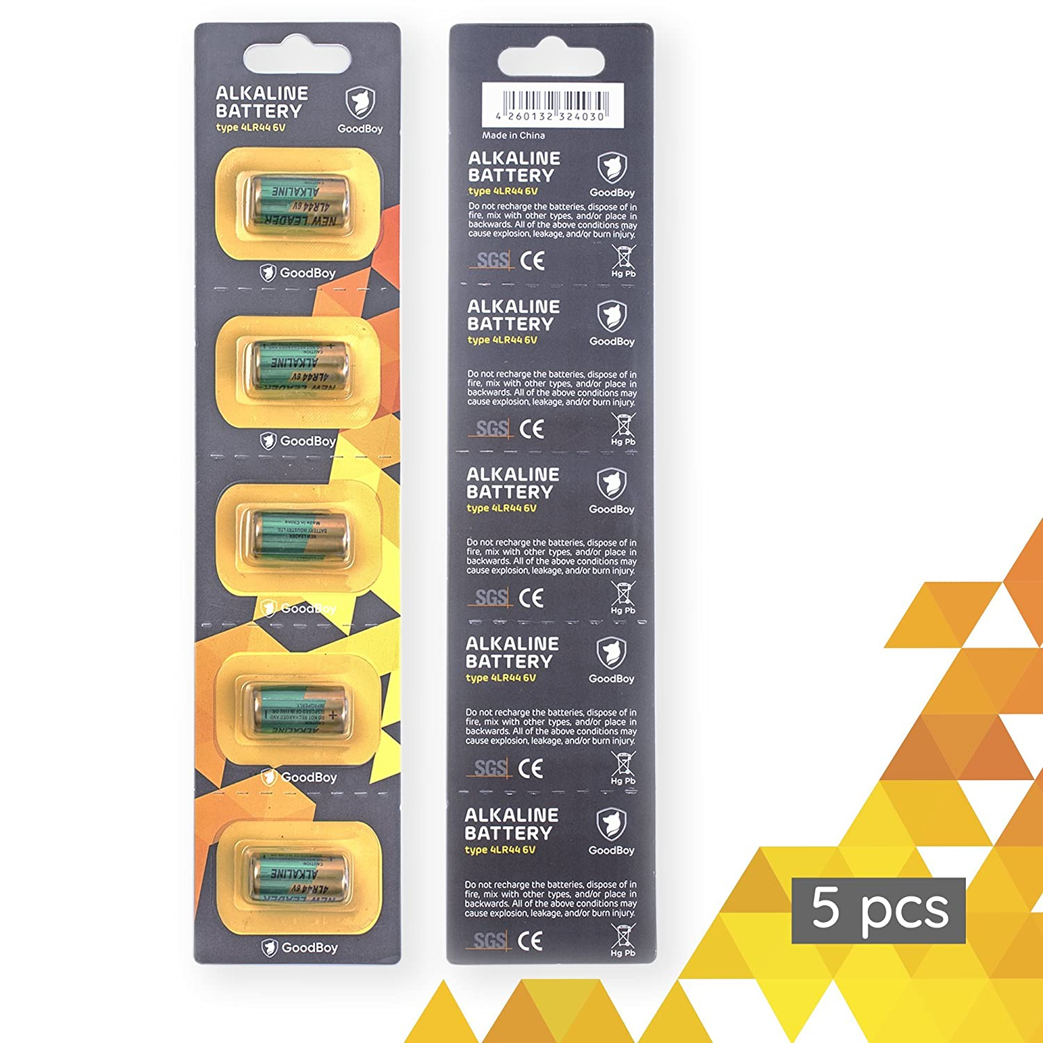 Bark Collar Batteries By Goodboy 5 Pack 6v Alkaline Arta Cutaway Diagram Show A Typical Cell Or Battery With 4lr44 Also Known As Px28a A544 K28a V34px Health Personal Care
