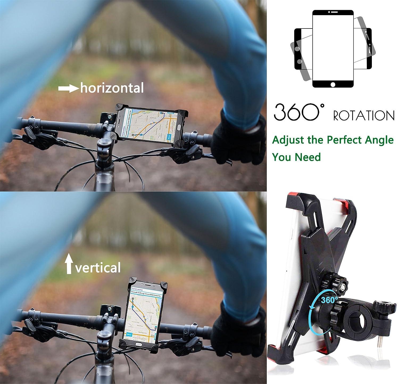 Universal Handy Halterung Outdoor Fahrradhalterung Motorrad Fahrrad Lenker mit 360 Drehen F/ür 3,5-6,5 Zoll Smartphone GPS Andere Ger/äte Gelb CRAZYBOY Fahrrad Handyhalterung Anti-Shake GPS Halter