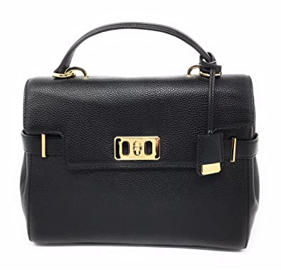 1c4ff241fc60 Michael Kors Karson Medium Satchel Black  Handbags  Amazon.com