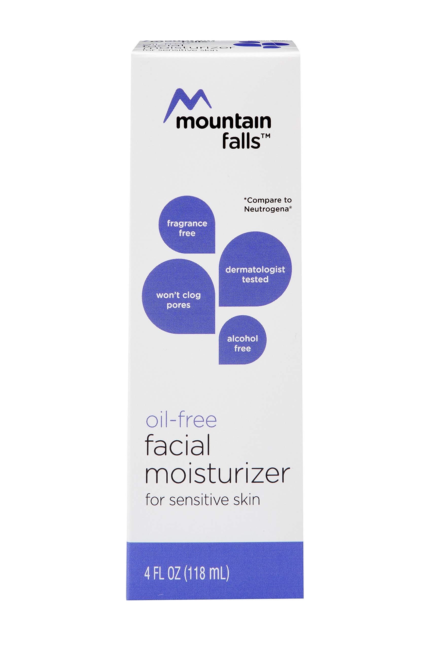 Mountain Falls Oil-Free Facial Moisturizer for Sensitive Skin, Sensitive Skin, Hypoallergenic, Compare to Neutrogena, 4 Fluid Ounce