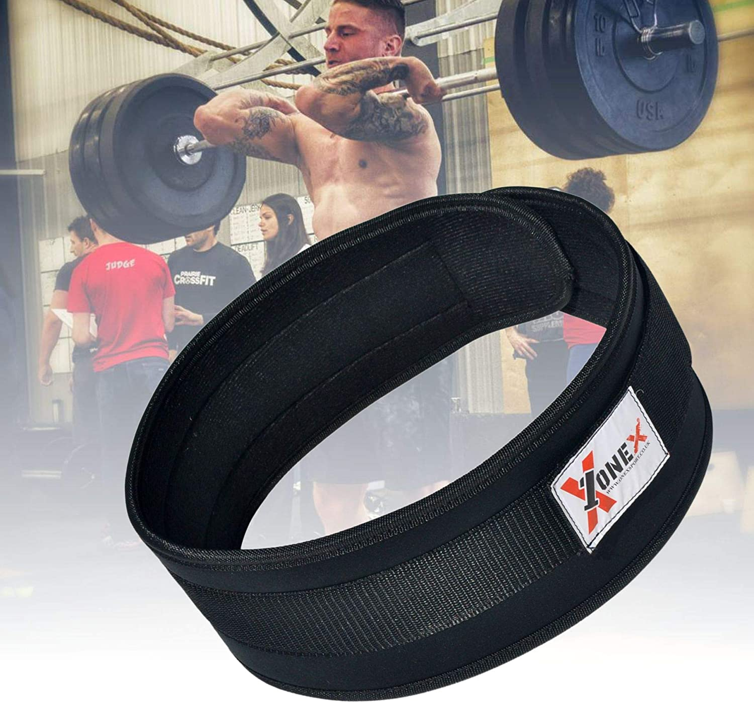 Deadlifts Squats Strength Training Power Lifting Double Neoprene Weightlifting Belt Back Back Core Support Body Building