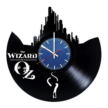 the wonderful wizard of oz art vinyl wall clock unique home decor original handmade