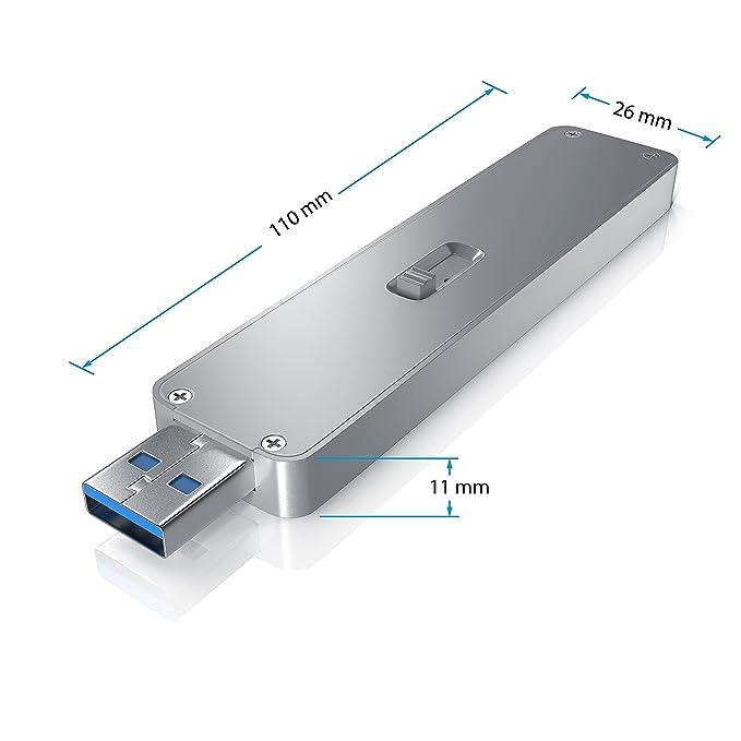 CSL-Computer Unidad de disco duro M.2 SSD HDD con mecanismo ...