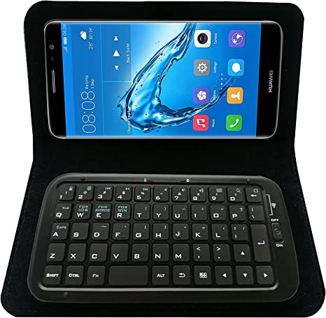 Mini teclado caso con ranuras para tarjetas y soporte para Huawei ...