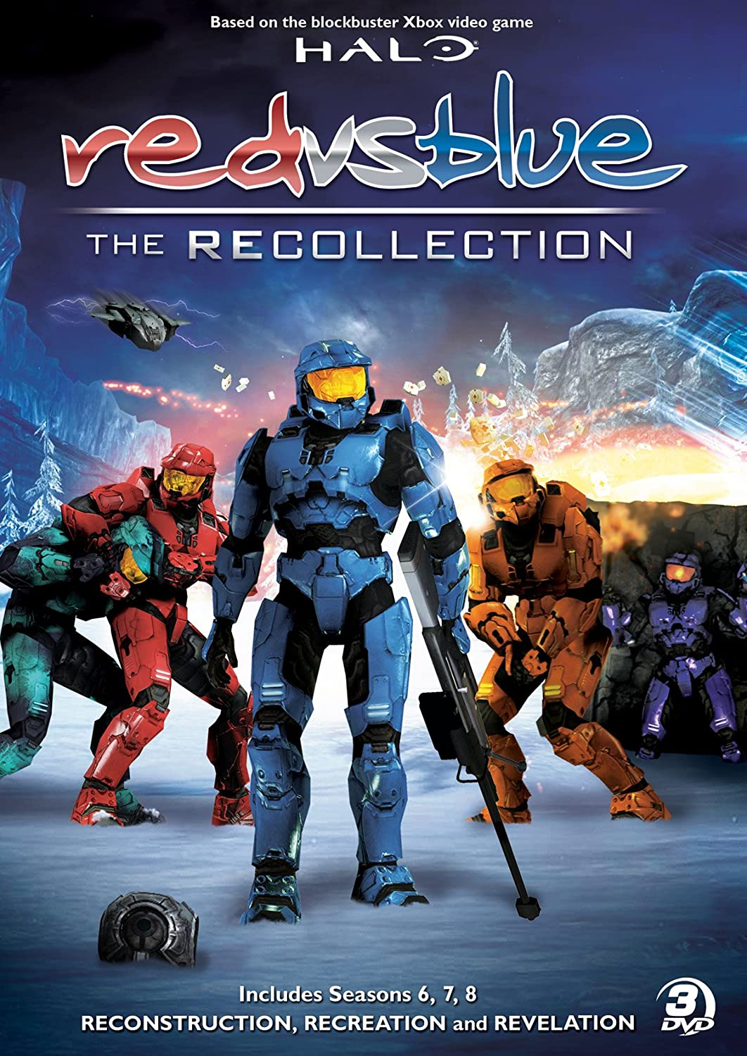 Amazon.com: Red vs. Blue: The Recollection Collection (Seasons 6-8): Burnie Burns, Jason Saldana, Gustavo Sorola, 767685225127: Movies & TV
