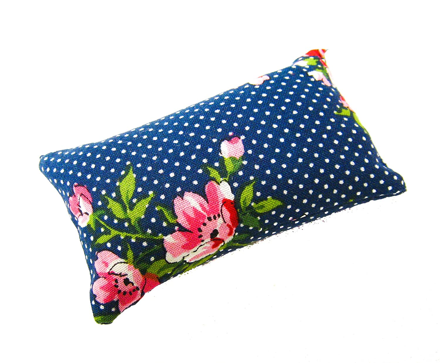 Handmade in USA 2x3, Blue Pinup Retro Nakpunar Emery Sewing Pincushion Filled with Abrasive Emery Sand