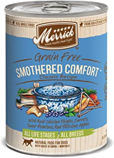 product image for Merrick Classic Grain Free Canned Dog Food, 13,2 Oz, 12 Count Smothered Comfort