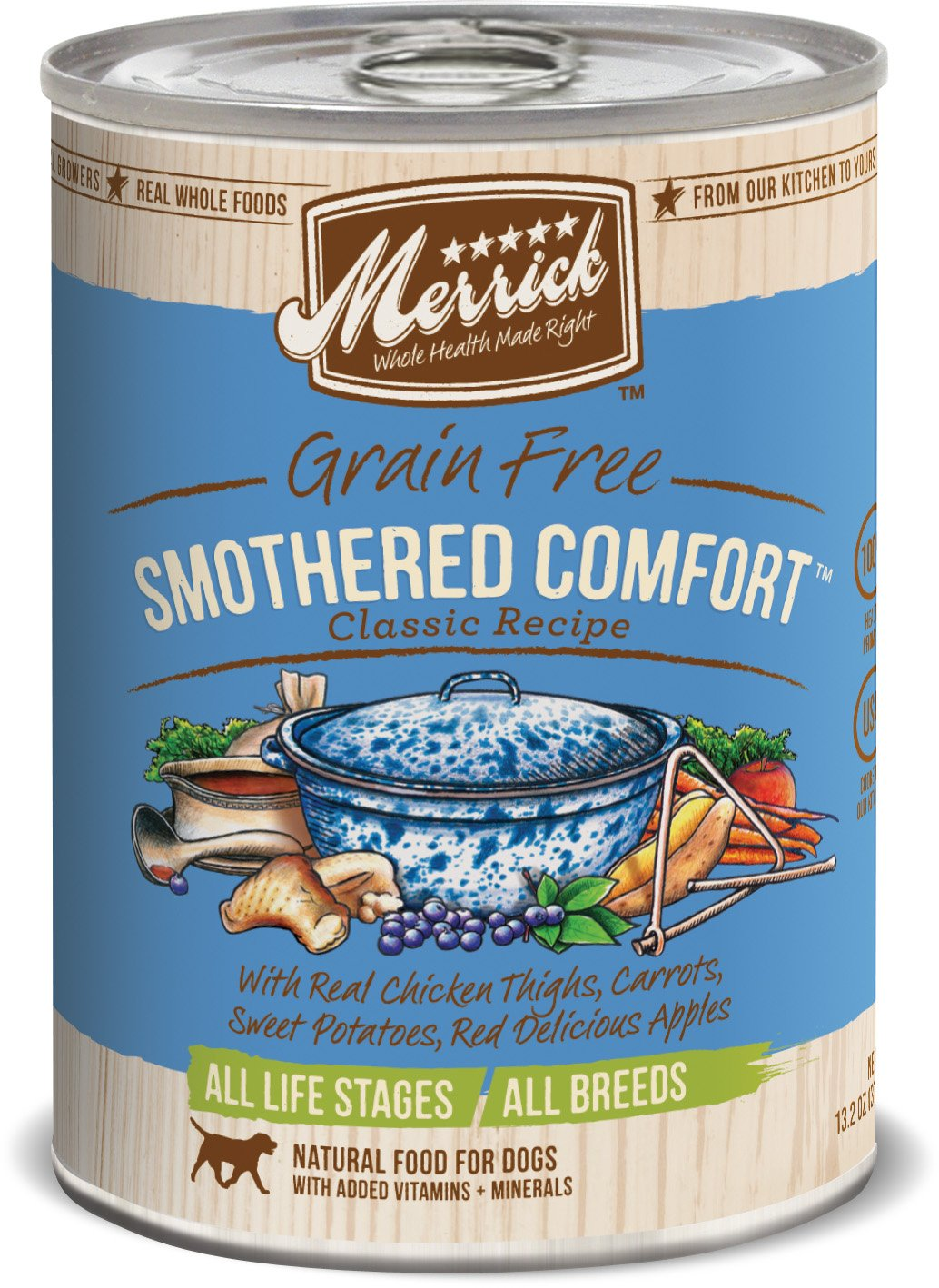 Merrick Classic Grain Free Smothered Comfort Wet Dog Food, Case Of 12 Cans by Merrick