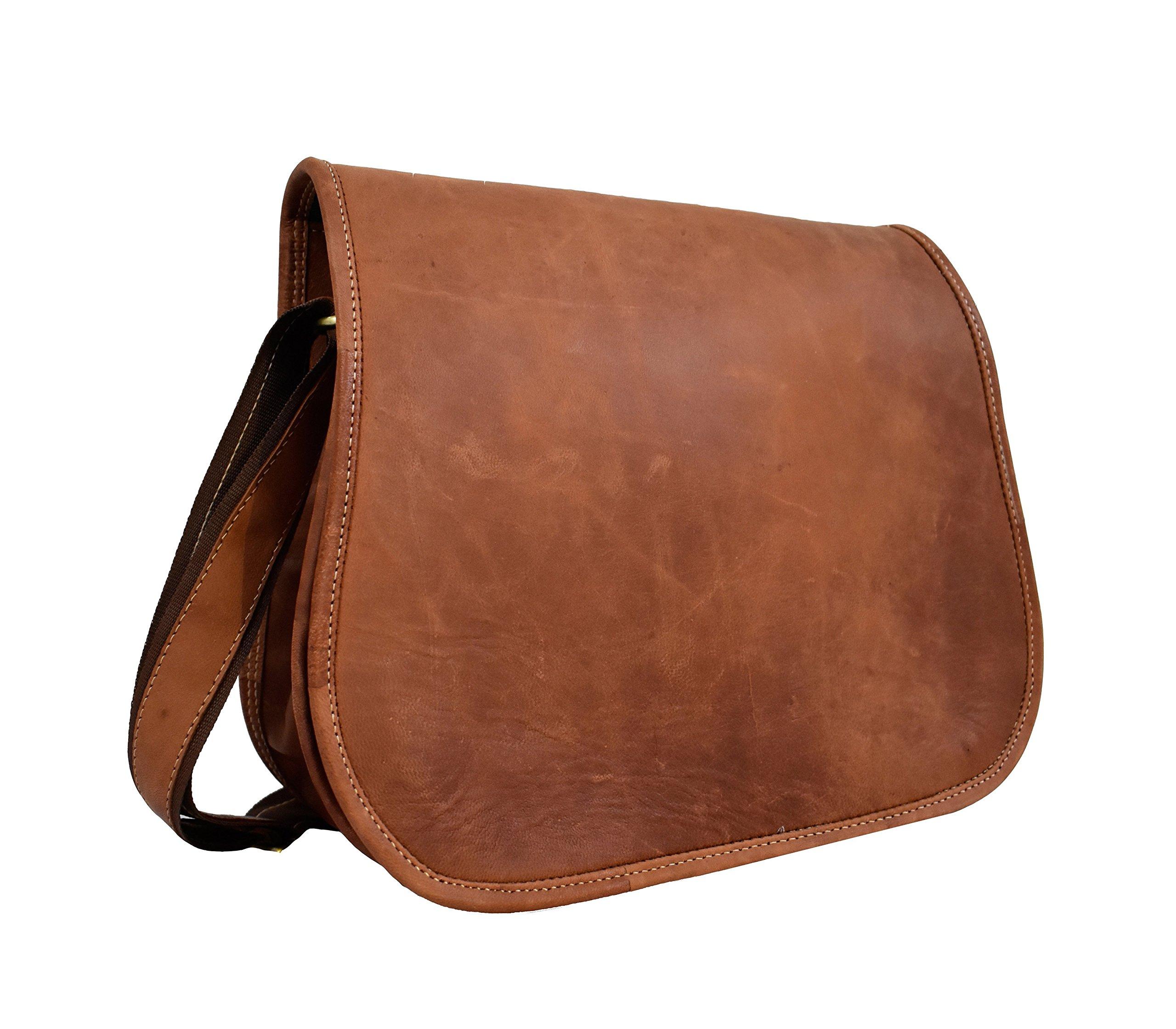 adwaita 14 inch full flap Women's Leather Purse Satchel Handbag Tote Bag