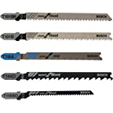 Bosch T501 5-Piece T-Shank Wood and Metal Cutting Jig Saw Blade Set