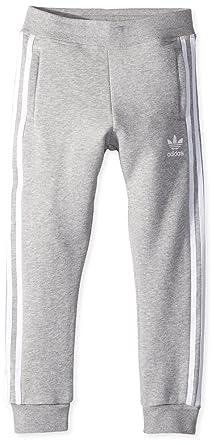 4434ad45c adidas Originals Boys' Little Trefoil Pants, Medium Grey Heather/White, ...
