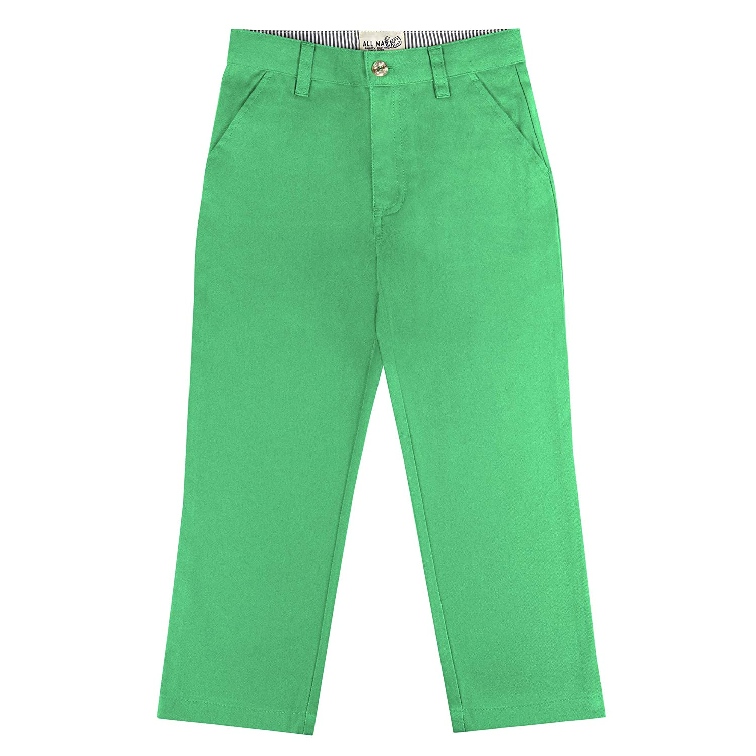 Buyless Fashion Boys Straight Cut Long Pants with Flat Front and Solid Color 21S1824