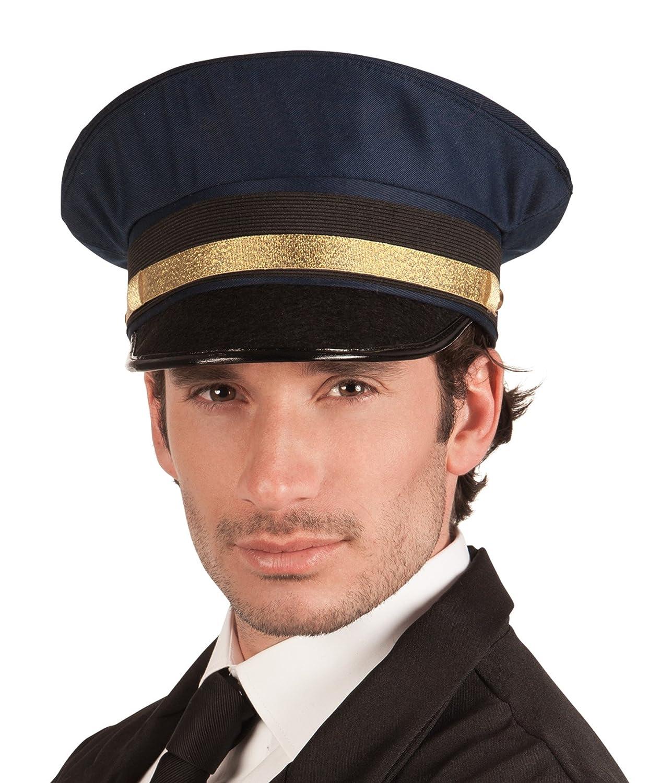 taglia unica per adulti Boland 01211 Blu scuro Cappello da Pilota