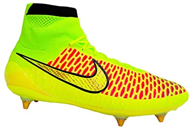 new product 0b7b4 2103c NIKE Magista Obra SG, Chaussures de Football (38.5 EU, Volt Metallic Gold
