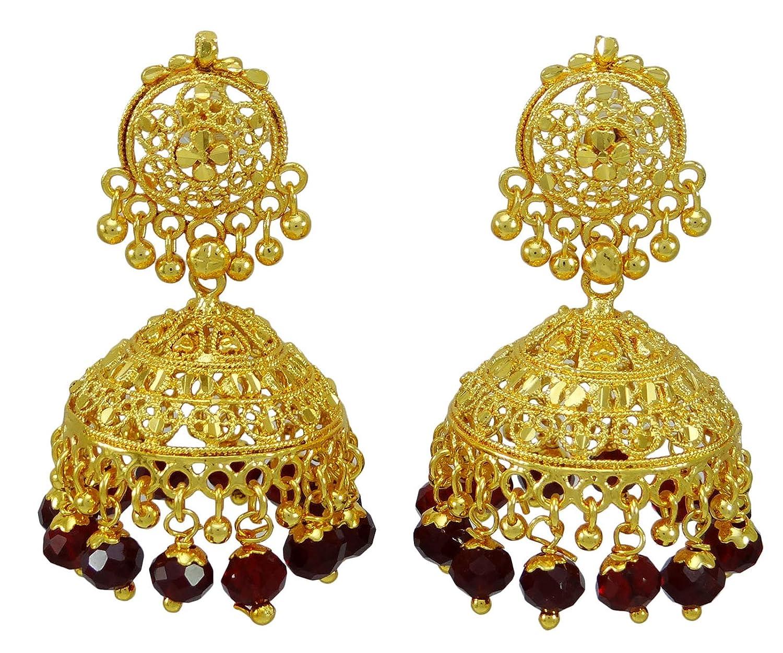 Banithani Goldplated Women Ethnic Bollywood Jhumka Earring Indian Party Wear Jewellery CeKorDVYA