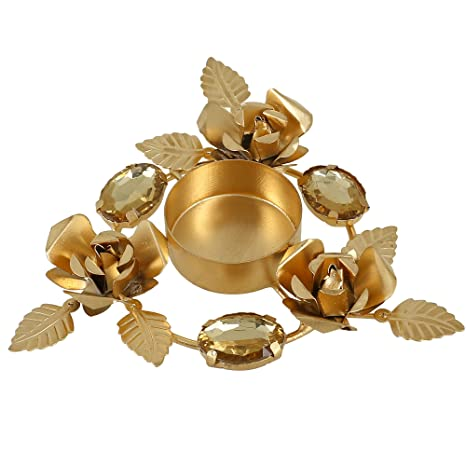 Buy ShalinIndia Cast Iron Indian Home Decorations Floral Arrangements Diwali Candle Holder Diya Online At Low Prices In India