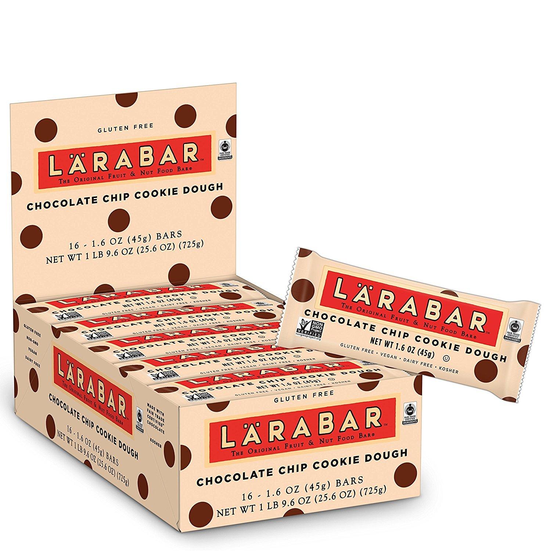 Larabar Gluten Free Bar, Chocolate Chip Cookie Dough, 1.6 oz Bars (32 Count)