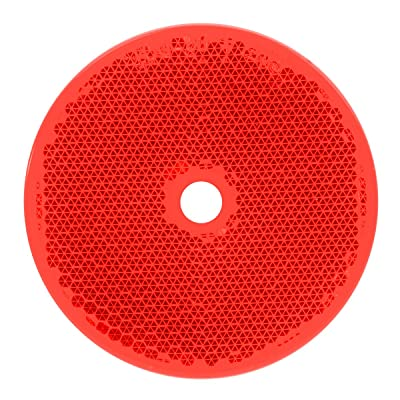 "Grand General 80829 Round Red 2-3/8"" Reflector with Center Mounting Hole for Trucks, Towing, Trailers, RVs and Buses, 1 Pack: Automotive"