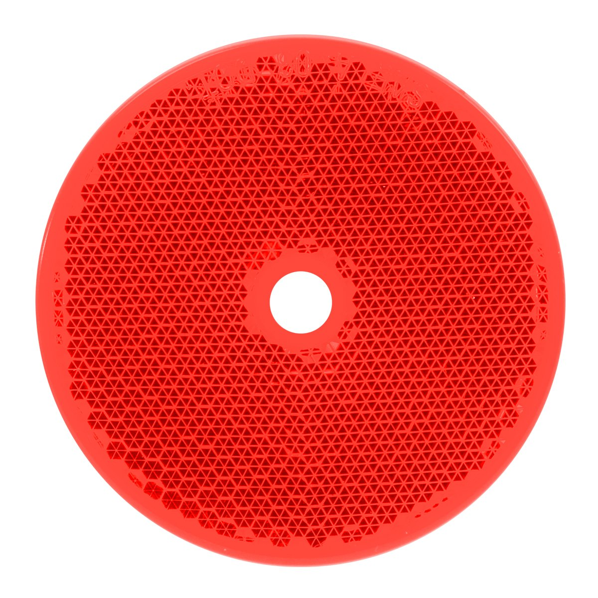 """Grand General 80824 Round Red 3-1//4/"""" Reflector with Center Mounting Hole for Trucks Towing Trailers RVs and Buses 1 Pack"""