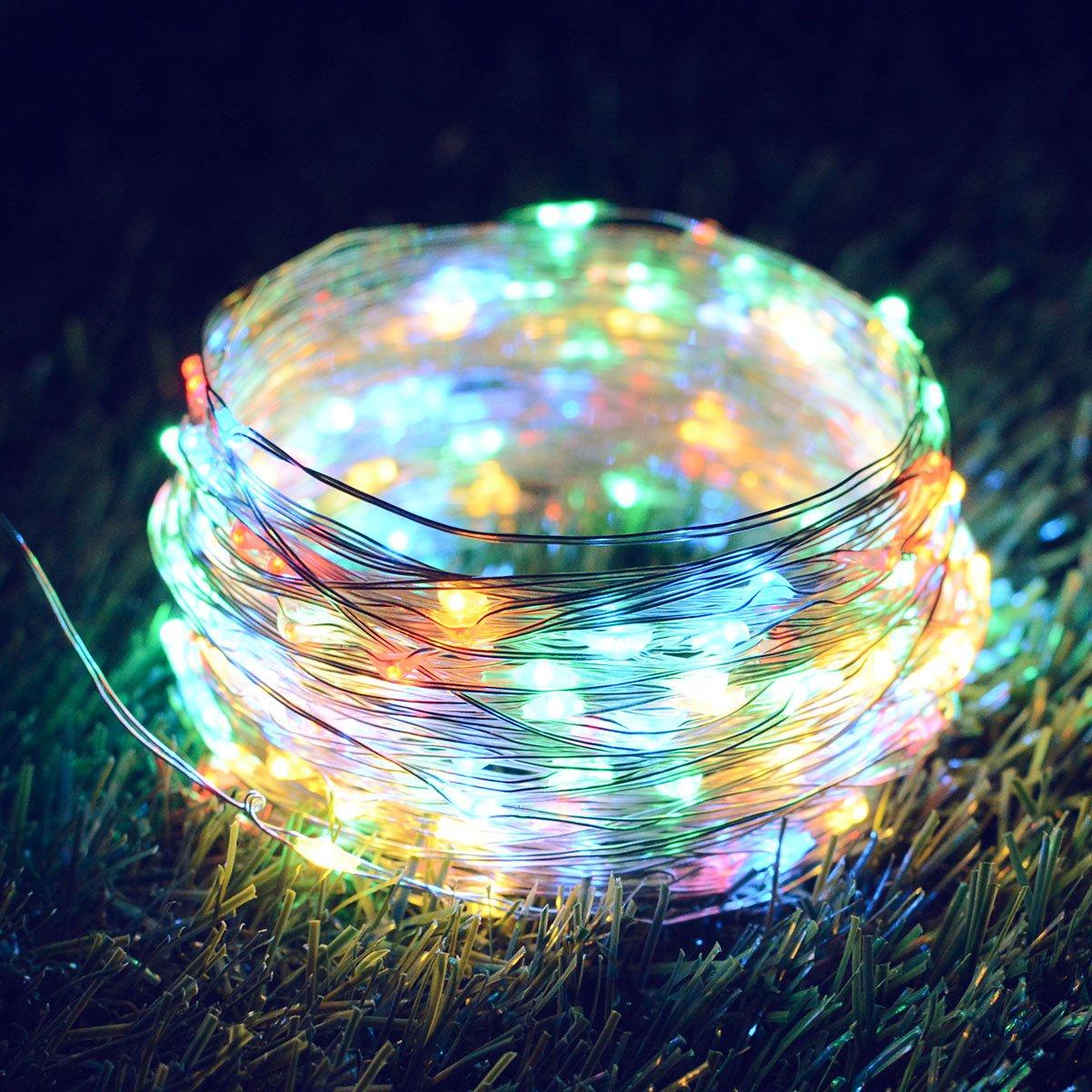 Amazon.com : Binval Solar String Lights, 72ft 200Led, Copper Wire ...