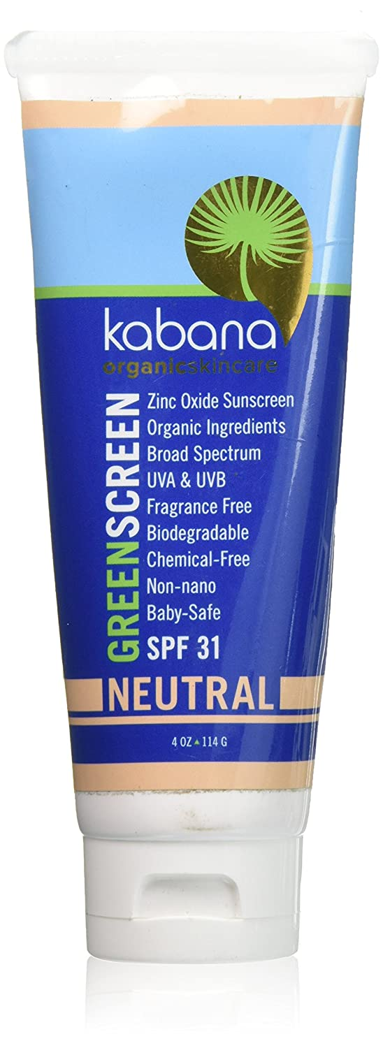 Organic Sunscreen Green Screen Zinc Oxide SPF 31 Tinted NEUTRAL - Soy-Free - Vegan - Gluten-free - 8oz/230g As 2x4oz Natural Moisturizer Sunscreen BB Cream Facial Moisturizing Foundation Makeup Non Nano Kids Baby Safe Children Daily Use Biodegradable Chemical-free Broad Spectrum Certified Organic Ingredients Not Titanium Dioxide