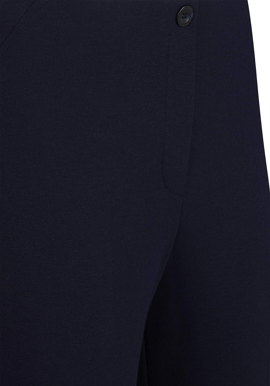 Rabe Damen Hose mit elastischem Bund und Bügelfalte Marine