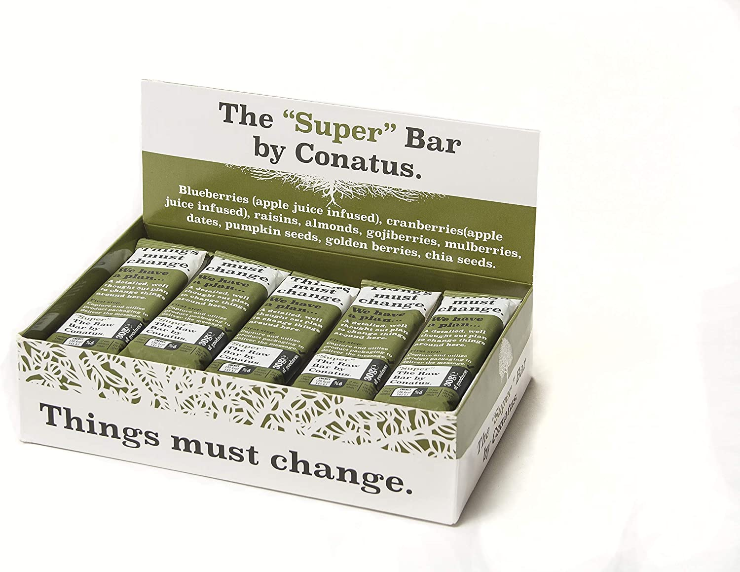 Super Raw Bar by Conatus - 15 pack (15 x 30g) - Barritas naturales ...