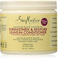 Shea Moisture Jamaican Black Castor Oil Strengthen/Grow and Restore Leave-In Conditioner 16 oz