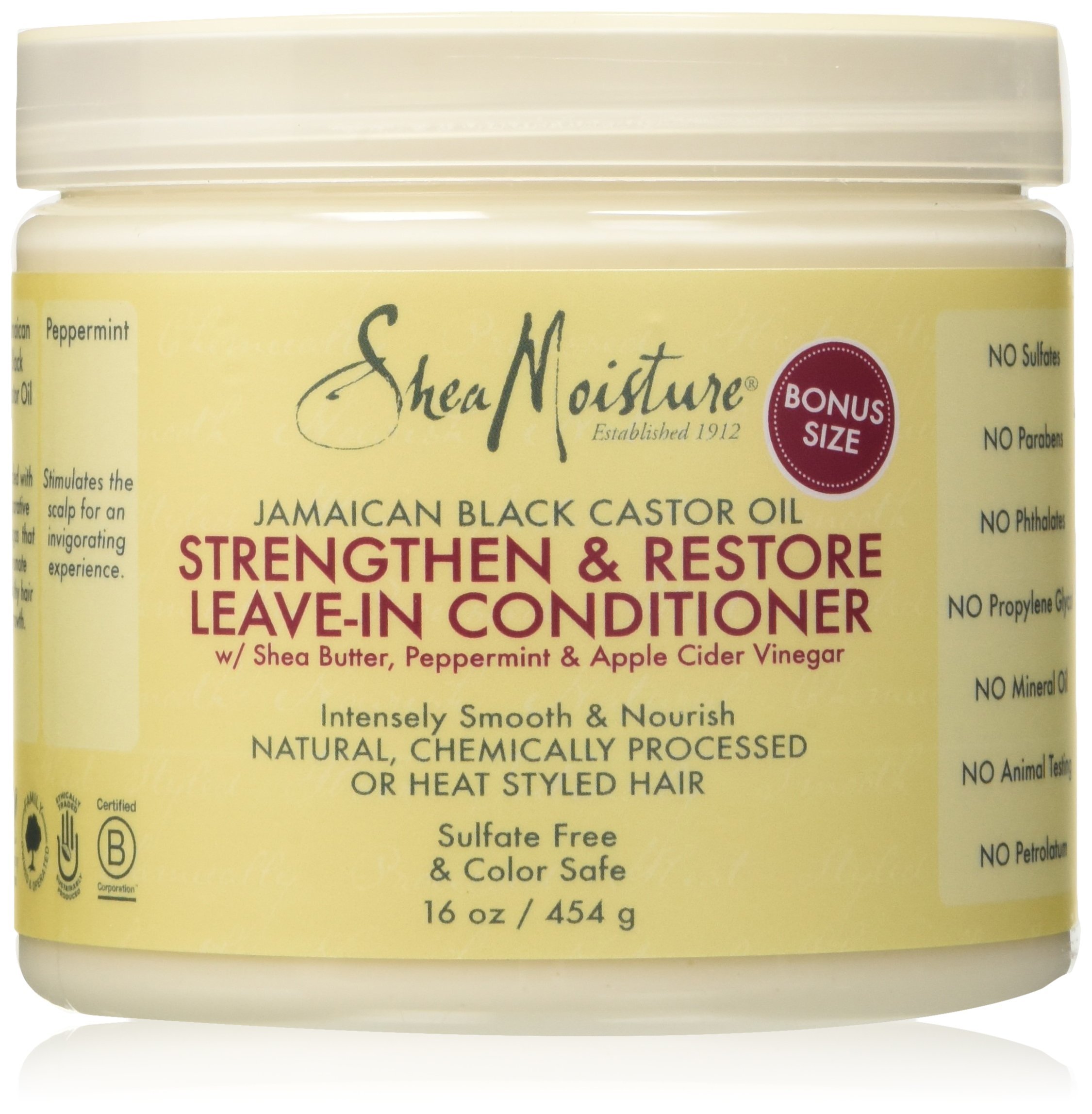 SheaMoisture Jamaican Black Castor Oil Strengthen & Grow Leave-In Conditioner | 16 fl. oz.