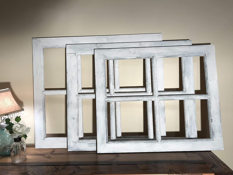 Window Frame | 4 Pane or 6 Pane Vintage Farmhouse Window Pane