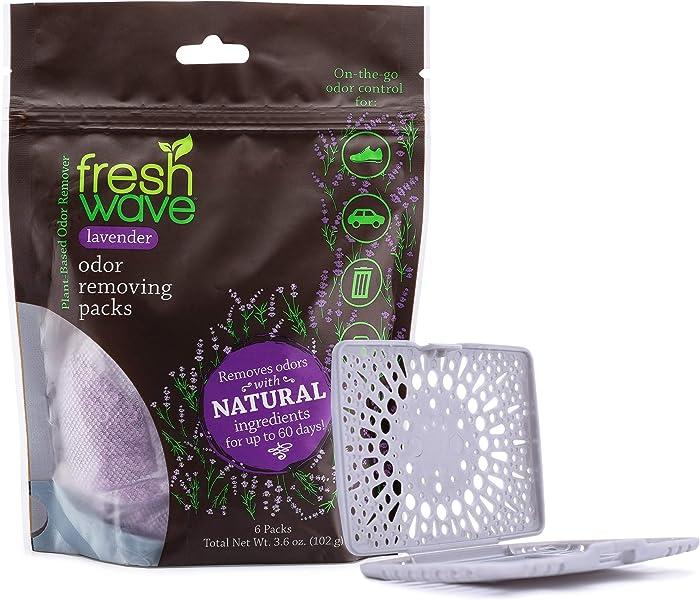 Fresh Wave Lavender Odor Eliminating & Deodorizing Packs, Bag of 6 + Bonus Fresh Pod Case