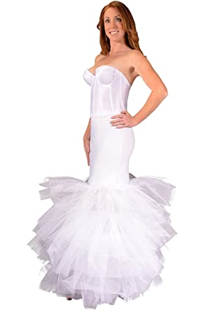 Bridal Trumpet Petticoat Crinoline Slip Adds Flare To Bottom Of Wedding Dress Stiff Tulle Lifts
